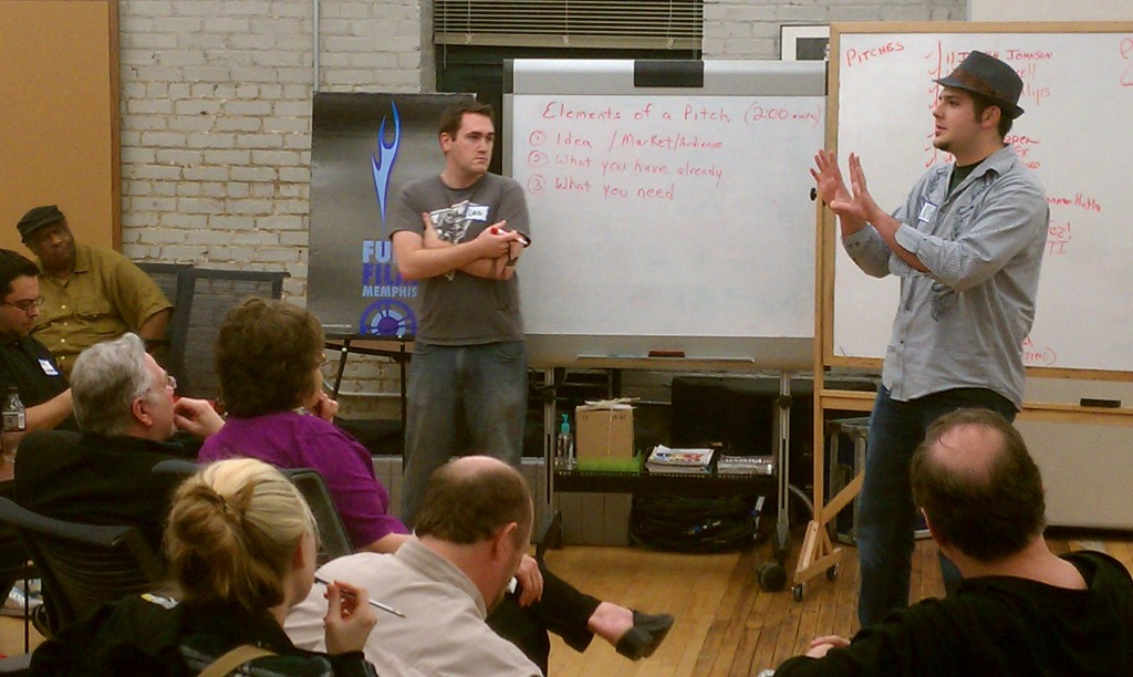 Filmmaker Pitches Idea at 48 Hour Film Launch Memphis